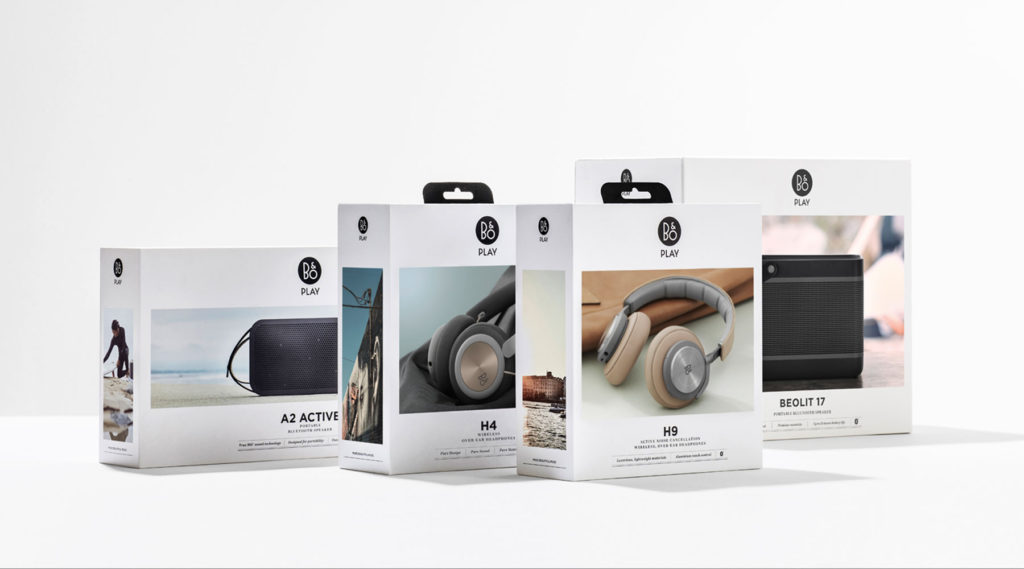 Pearlfisher Copenhagen redesigns the packaging for leading audio lifestyle brand, B&O Play, the challenger sibling to icon, Bang & Olufsen.