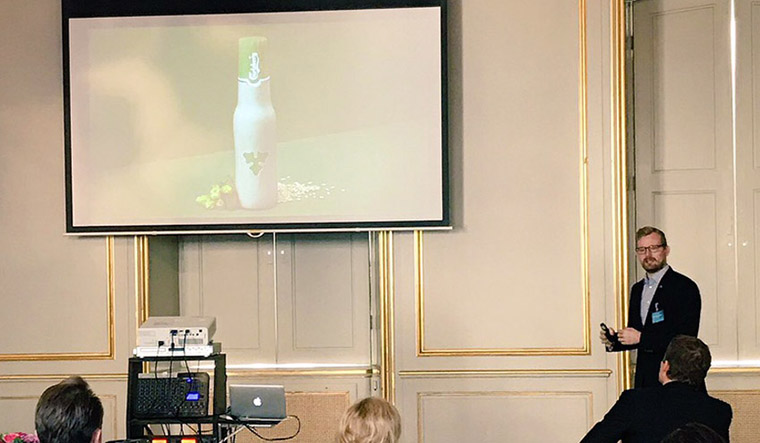 Simon Boas Hoffmeyer, Group Sustainability Director of Carlsberg, speaks at Pearlfisher's event in Copenhagen, 'Taste Mode 2016: How to Build the Food and Drink Brands of the Future.'