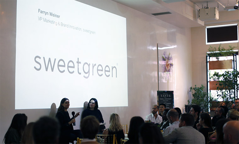 Farryn Weiner, Vp of Brand and Innovation at Sweetgreen, discusses the future of health at Pearlfisher's Taste Mode event in New York.