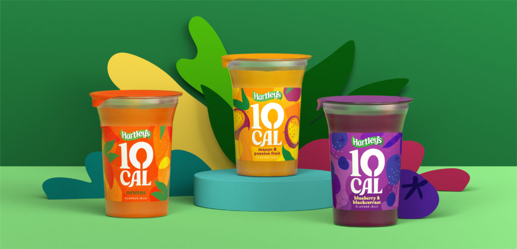 Pearlfisher brings joy to jelly with new design for Hartley's 10 Cal Jelly.